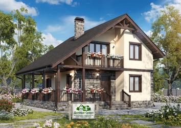Проекты каркасных Канадских Домов, дач, коттеджей