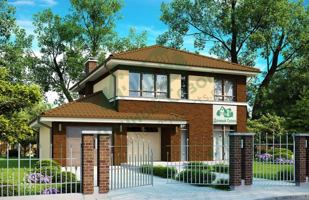 Skippics: проект двухэтажного каркасного дома с.